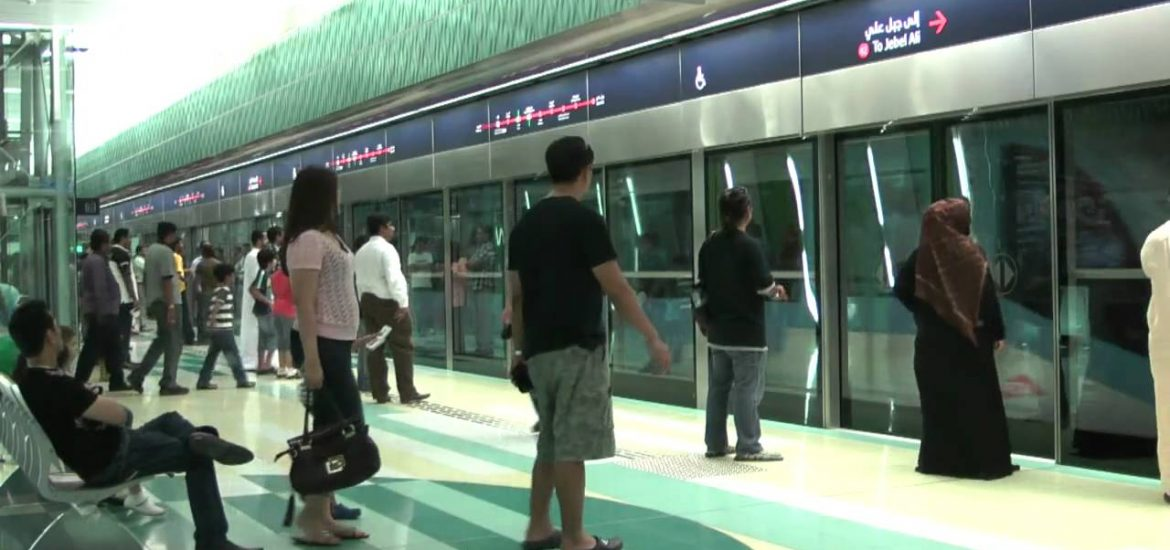 One of the several Well maintained Metro Station of Dubai Metro