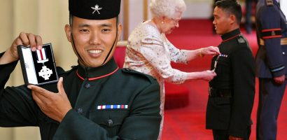 A Nepalese soldier in the British army awarded CGC