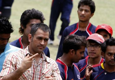 M S Dhoni's visit to Kathmandu gathered big crowd
