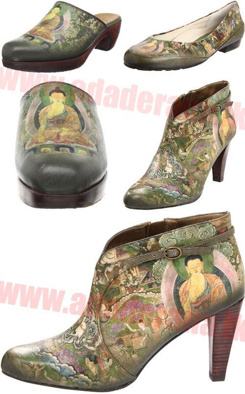 buddha on shoes