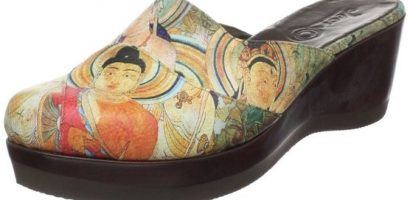 Shoes with Buddha's Imprints