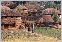 Typical Nepali Mud Houses