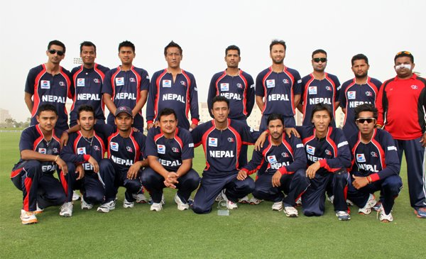 Full Team of Nepali Cricket ICC world Twenty20 Qualifier game in the UAE
