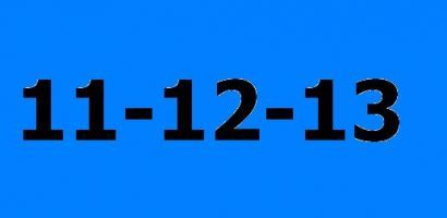 The last iconic date of the century – 11-12-13