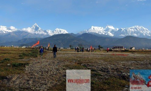 Long vacated land of Proposed  Pokhara International Airport.