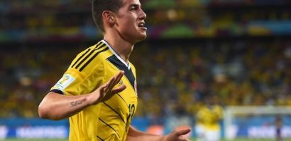 Colombia is moving on to the quarter final of the World Cup
