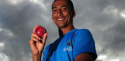 Alfonso Thomas: Somerset seamer takes four wickets in four balls