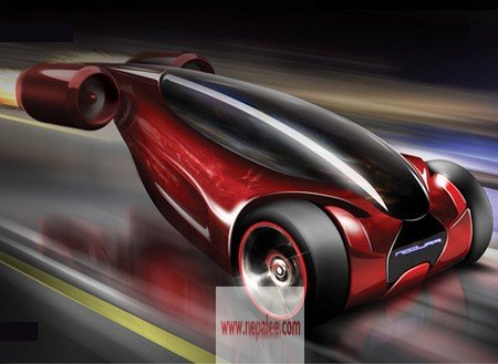 Falcon - Jet Propelled Flying car concept revealed by Engineers in California USA.