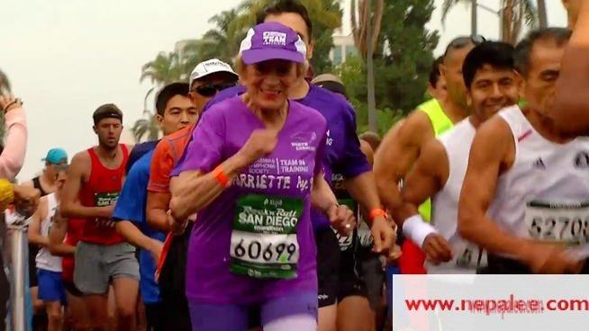 Granny finishes San Diego marathon in record time
