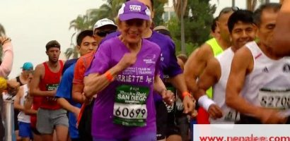 Granny finishes San Diego marathon in record time