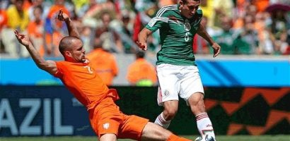 Netherlands through to the Quarter Final beating Mexico 2-1