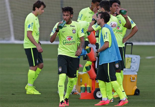 Brazilian Captain Neymar and his team ready to Kicks off the world cup opening match on June 12, 2014.