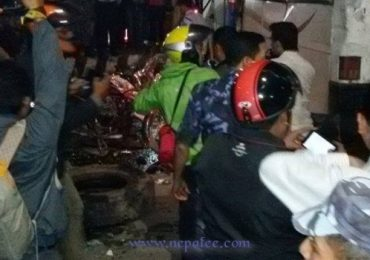 Massive Road Accident takes three lives in Kathmandu