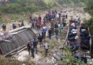 Morang Bus Accident Pictures