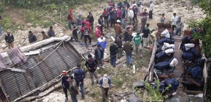 Bus accident killed 44 in Sindhuli Nepal