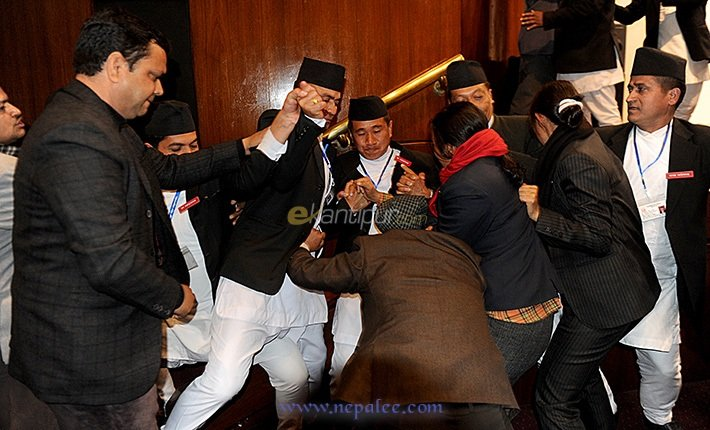 Nepal's CA Members- Clashes-during session