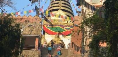 Swaymbhunath Stupa In Kathmandu
