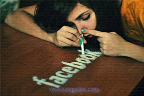 Addicted to facebook? This is just an illustration, not in real life it could happen, wasting your hours on social media would lead you to non productive in your career or lifestyle only.