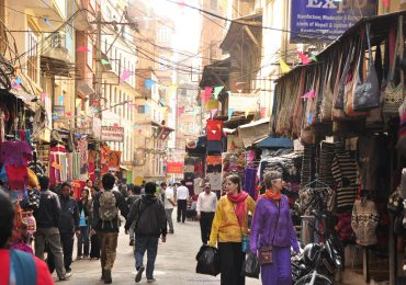 Businesses at Thamel and Durbarmarg.