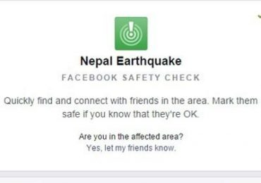 Facebook activates Safety Check for Nepal