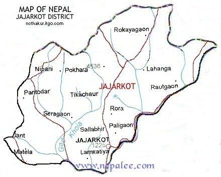 Jajarkot District Map