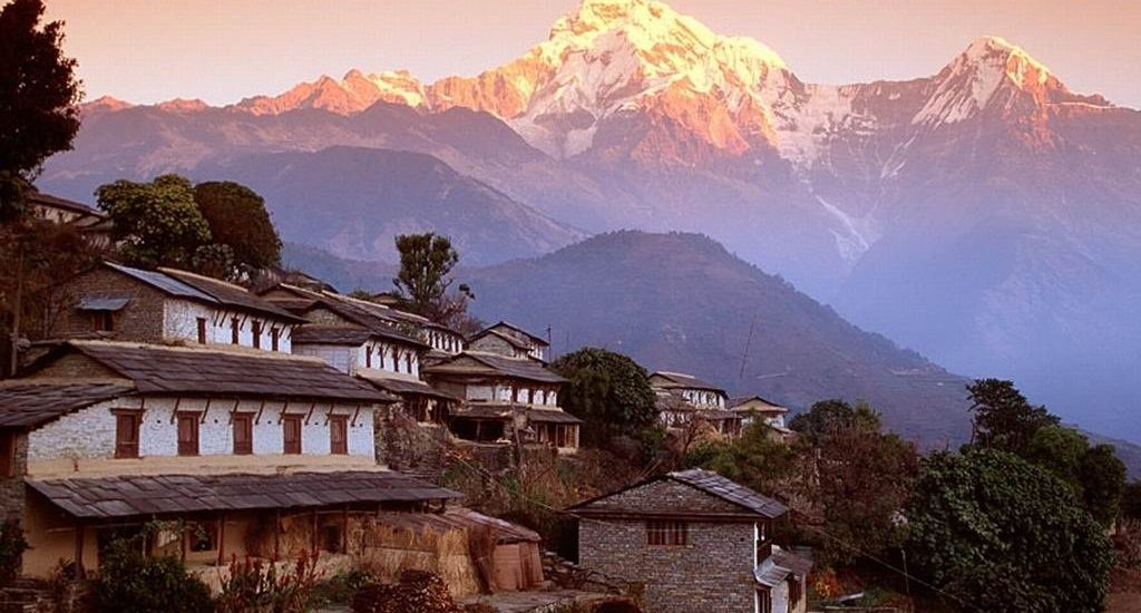 Annapurna Mountain the third highest mountain in the world.