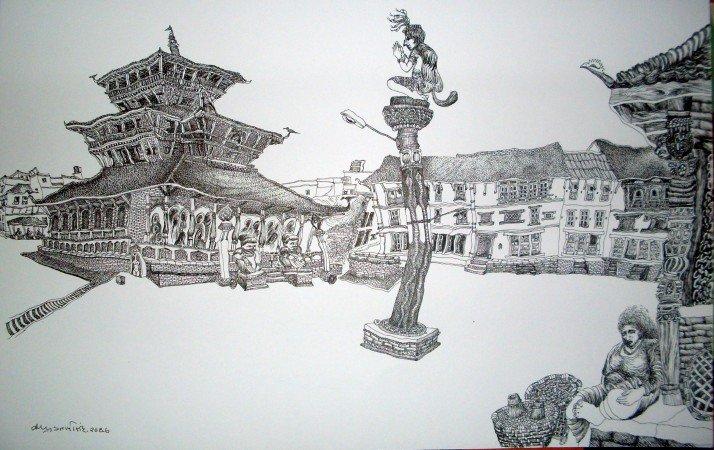 Universal Painting Exhibition Started in kathmandu