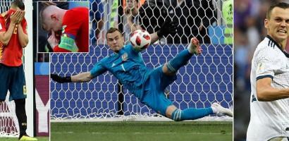Russia reach quarterfinals beating Spain on penalties