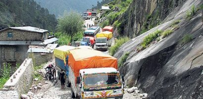 Floods and landslides obstructed Karnali Highway