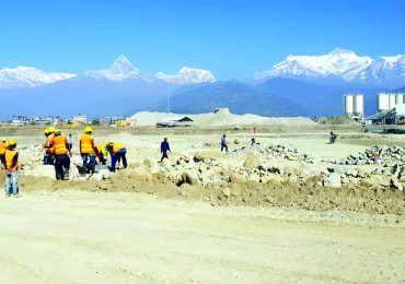 Pokhara international airport Runway construction Completed